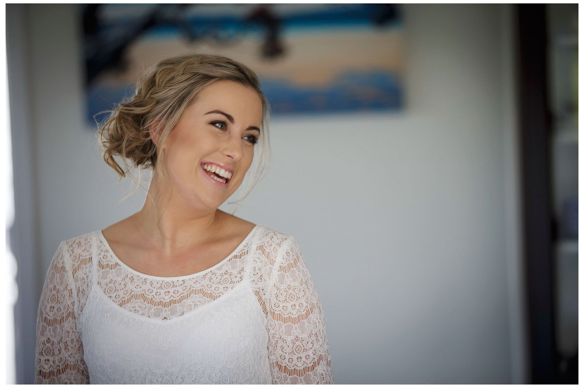 Bride hair and make up Wedding photo by Chris Loufte