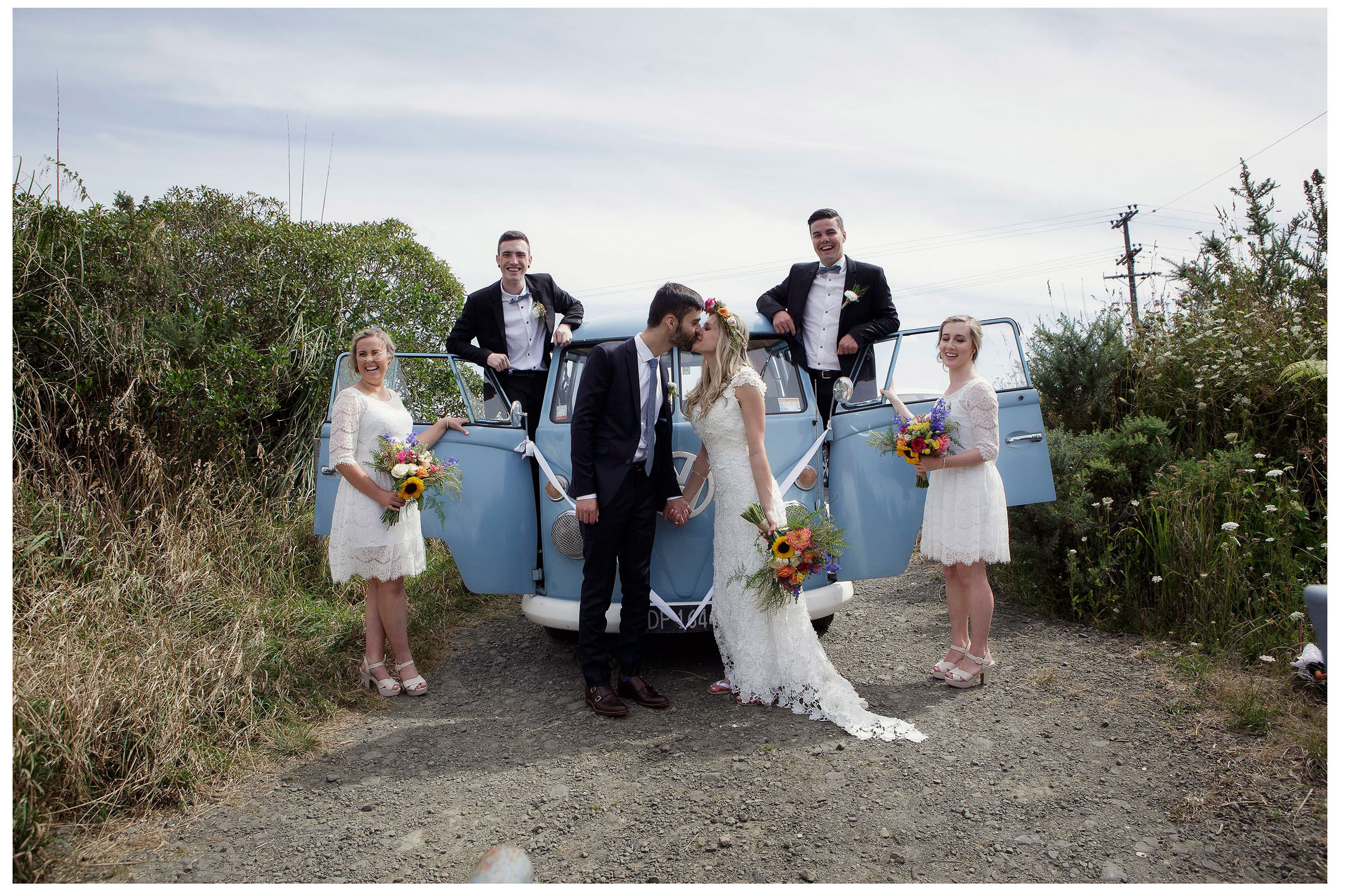 VW Kombi van wedding photo by Chris Loufte Auckalnd