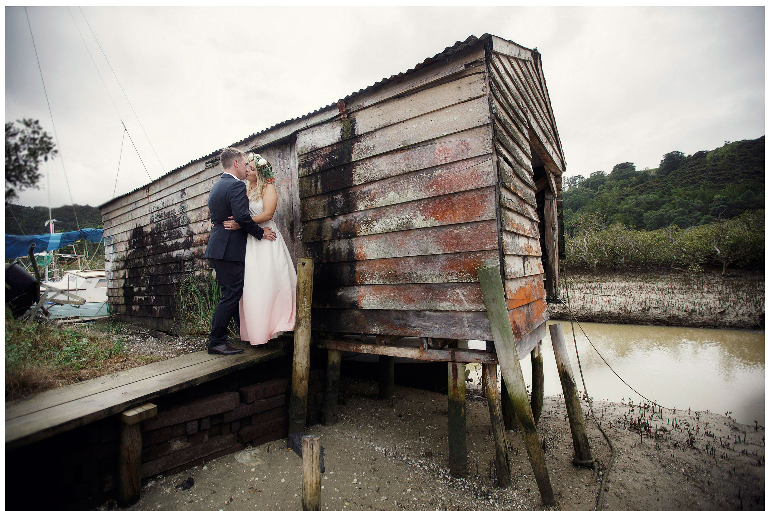 Omaha Warf Auckland wedding photo by Chris Loufte