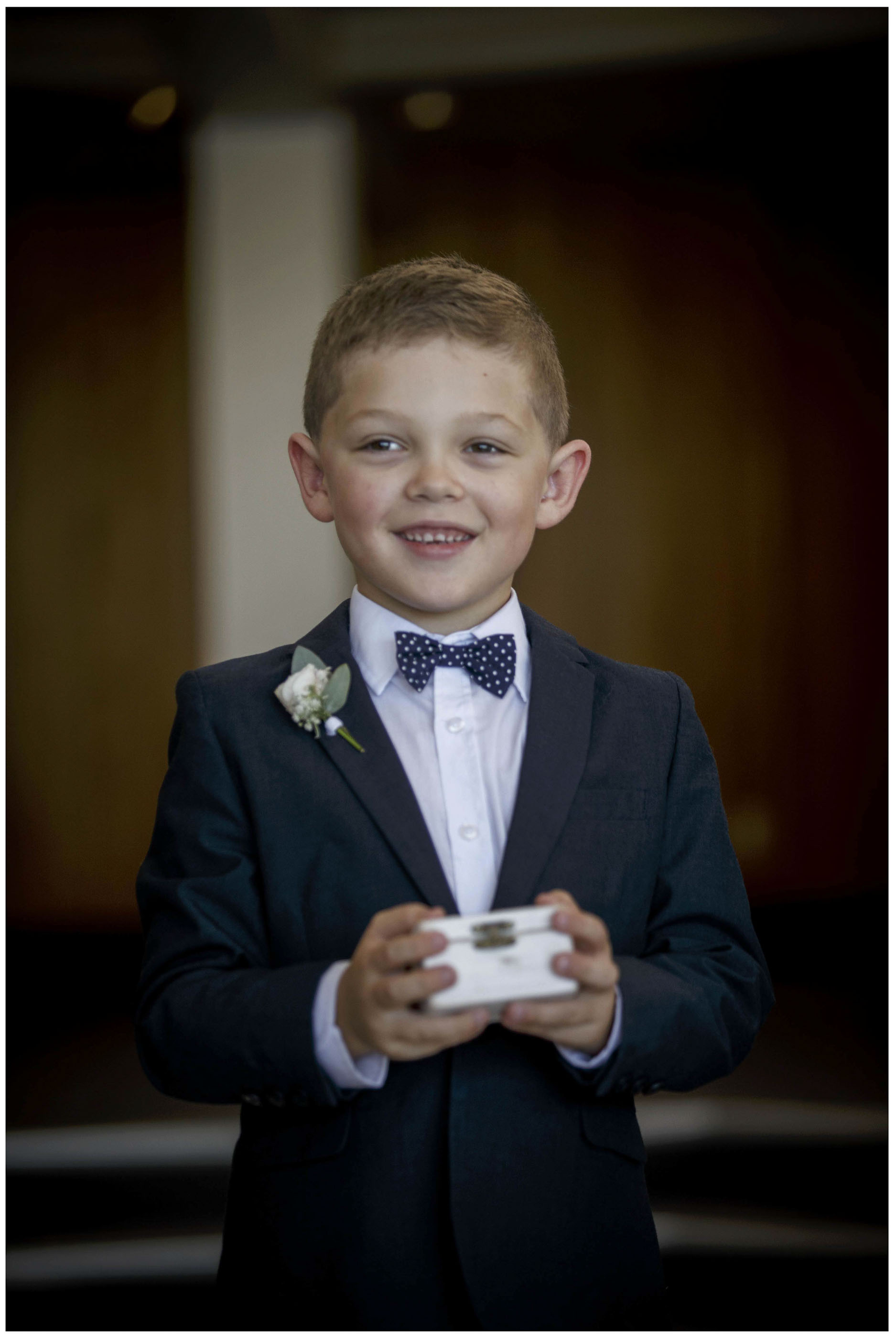 Cute pageboy carries wedding ring box, Auckland Wedding Photographers, Five Knotts Auckland,Wedding