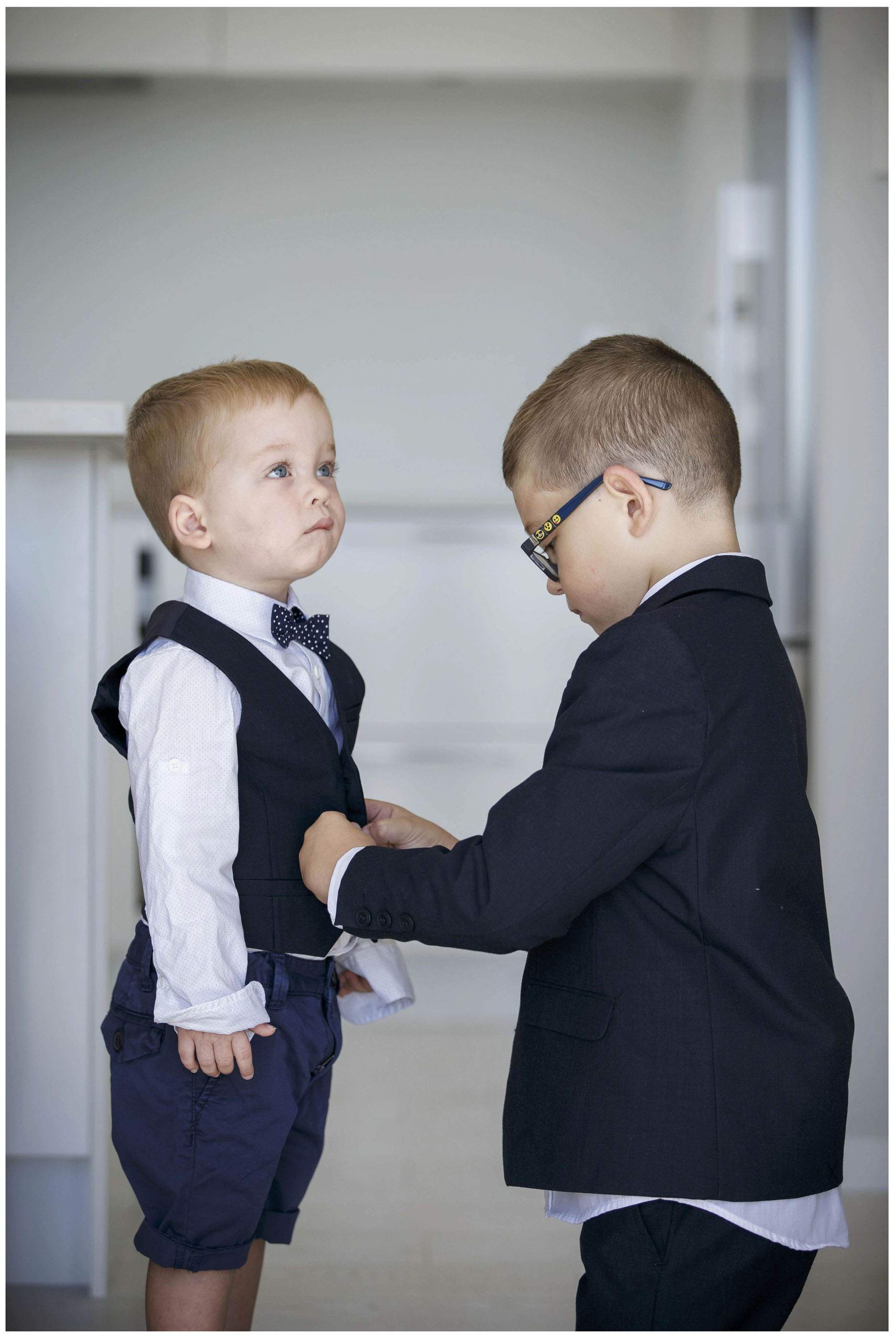 Two cute page boys getting dresses, Auckland Wedding Photo,